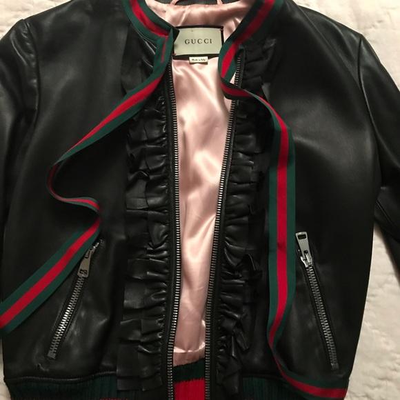 d6697c7c7 Gucci Jackets & Coats | Leather Jacket Size 42 Worn 2 Times | Poshmark